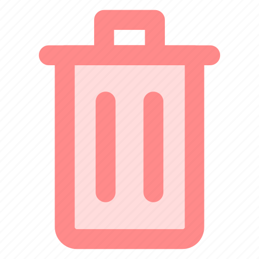 circle, delete, garbage, recycle, red, rubbish, trashicon icon