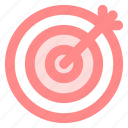 bullseye, businesssuccess, circle, goal, marketing, targeticon icon