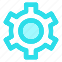 circle, cog, customize, gear, preferences, settingsicon icon