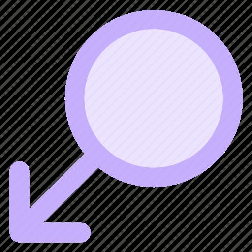 circle, gender, male, man, sex, signicon icon