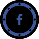 btn, circle, fb, internet, media, network, page icon