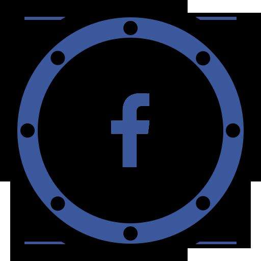 btn, circle, fb, internet, media, network, page icon