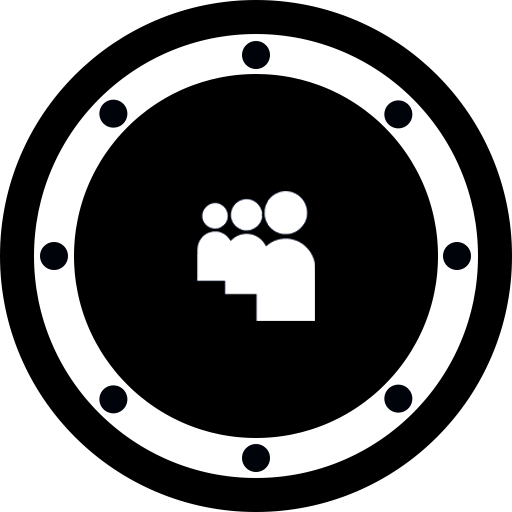 btn, circle, music, myspace, network, rounded, social icon