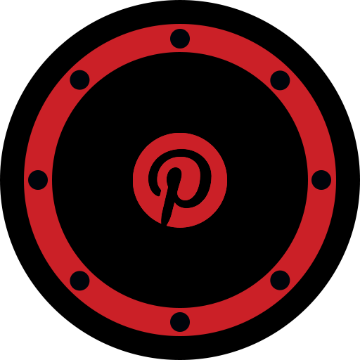 btn, business, circle, network, pinterest, rounded, social icon