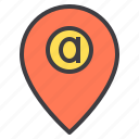 address, communication, network, pointer, social