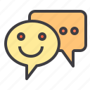 chat, communication, happy, network, social