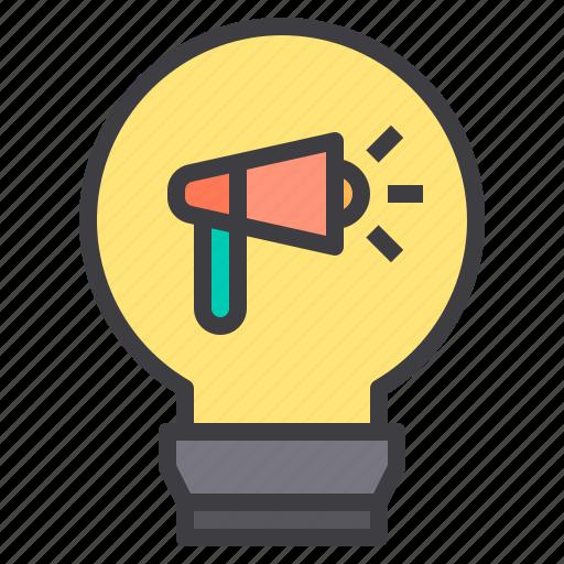 Idea, innovation, megaphone, network, social icon - Download on Iconfinder