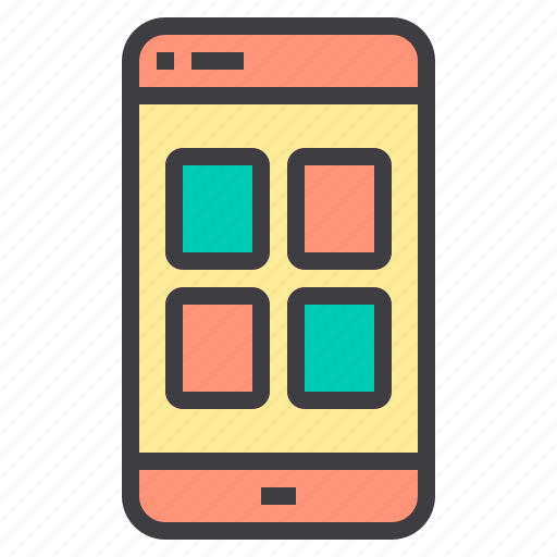 application, mobile, network, phone, social icon