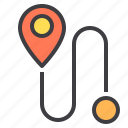 communication, location, navigator, point, share icon