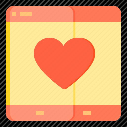 communication, love, mobile, network, social icon