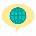 communication, message, network, social, world icon