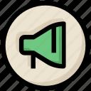 announcement, loudspeaker, megaphone, network, promotion, social icon