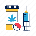 bad habit, cannabis, drug, marijuana, narcotic, pill, social problem icon