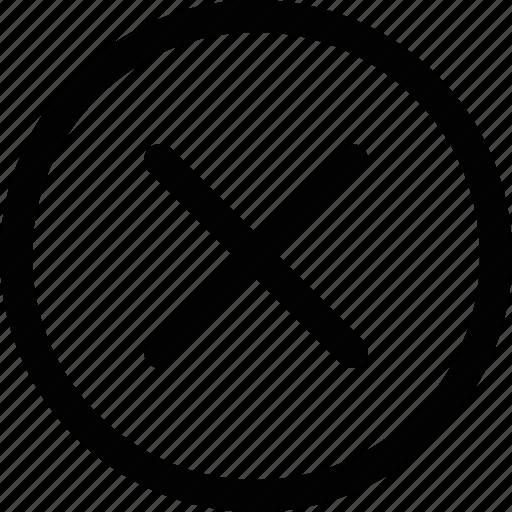 cancel, close, delete, denied, discard, dismiss, remove icon