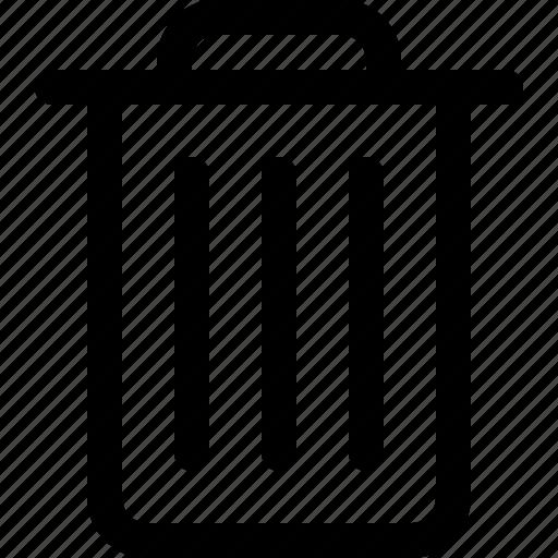 bin, can, delete, garbage, junk, rubbish, trash icon