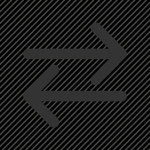 arrow, arrows, exchange, interaction icon