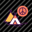 activity, camp, civil, peace, position, protest, social icon
