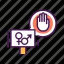 activity, civil, position, protest, sex, social, strike icon