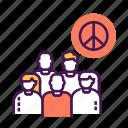 activity, anti, civil, movement, protest, social, war icon