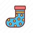 christmas, socks, winter, xmas icon icon