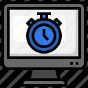 stopwatch, timer, computer, clock