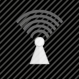 broadcast, internet, signal, wifi, wireless icon