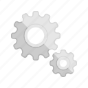 config, configuration, control, gear, run, setting icon
