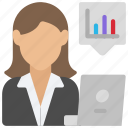 female, analyst, woman, user, avatar, analyse