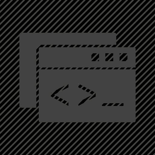 browser, coding, custom, development, internet, seo, web icon