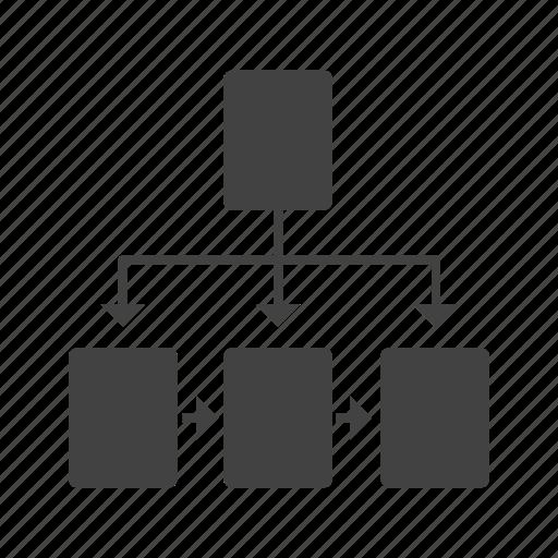 chart, diagram, flowchart, hierarchy, organizational, structure icon