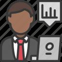 male, analyst, man, user, avatar, analyse