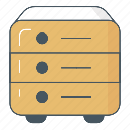 archive, documents, files, filing drawer, registry icon