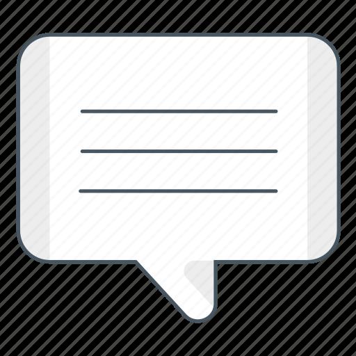 blog, chat, comments, comunication, conversation, message, msm icon