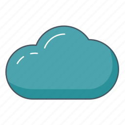 cloud, cloudy, data, overcast, sky, weather icon