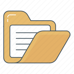archive, data, directory, document, file, folder, open folder icon