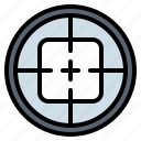 aim, shooting, sniper, target icon