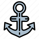 anchor, navigation, tool icon