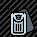 dog, metallic, military, miscellaneous, tag icon