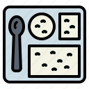 food, meal, military, tray icon