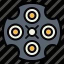gun, revolver, slug, weapon icon