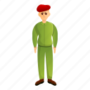 beret, border, hand, red, retro, soldier