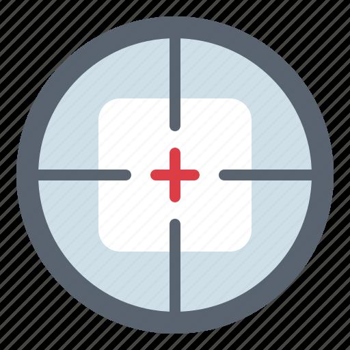 aim, shooting, sniper, target icon