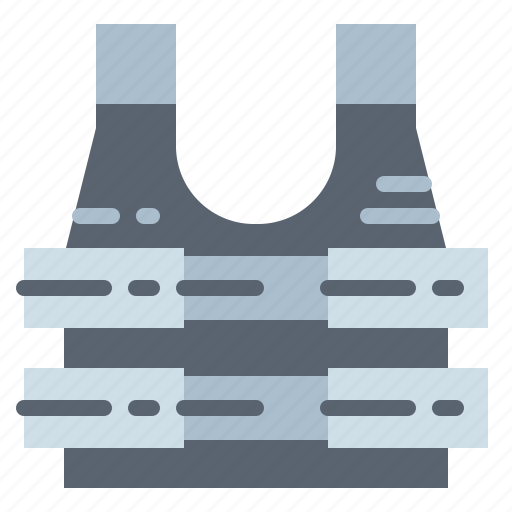 army, bulletproof, security, vest, weapons icon