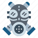 gas, mask, nuclear, radiation, war icon