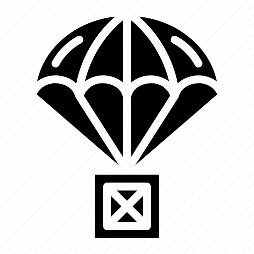 box, help, parachute, solidarity icon