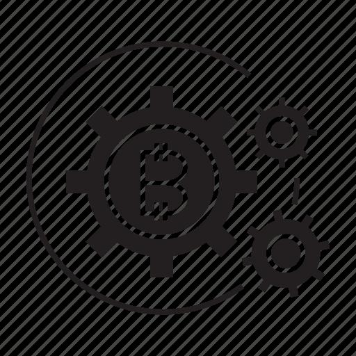 cogs, digital money, gear, system icon