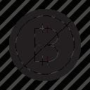 ban, bitcoin icon