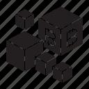 blockchain, cube, technology