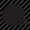 bitcoin, encryption, password icon