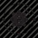 bitcoin, cog, gear